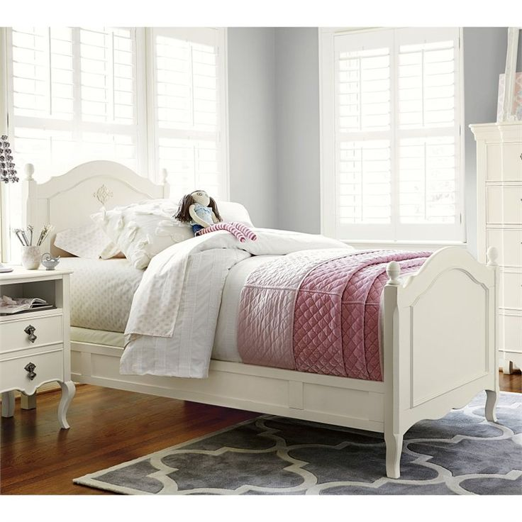 Lowest Price Online On All Smartstuff Genevieves Wood Reading Twin Bed In French White