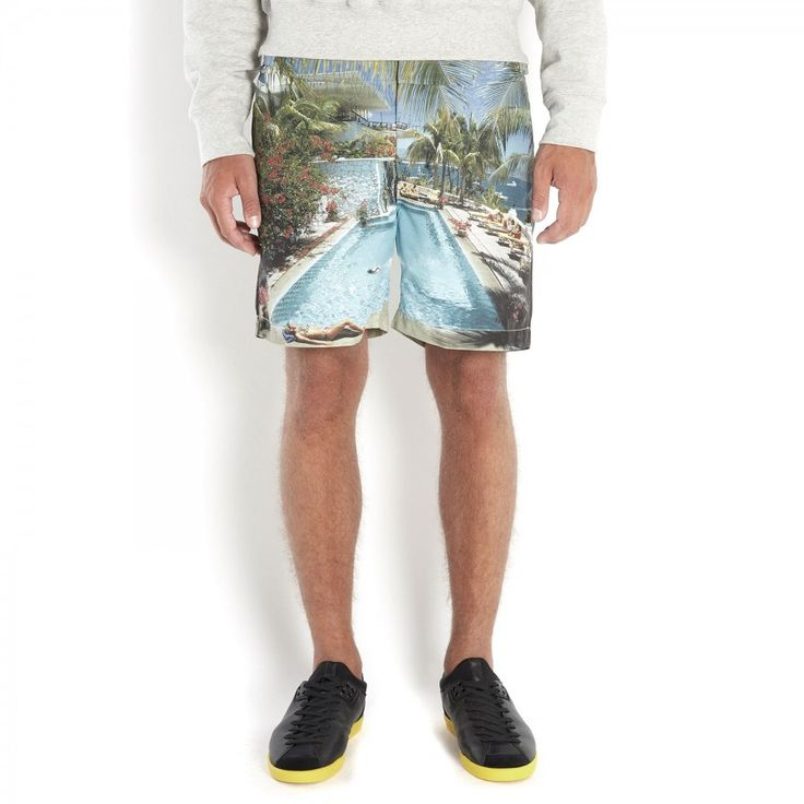 Poolside print swim shorts, Beachwear, Harvey Nichols - Orlebar Brown £250