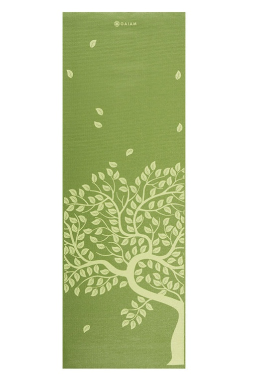 Tree of life yoga mat. TEEK: maybe do a trio of paintings for dinin' room wall instead of paintin wall itself.