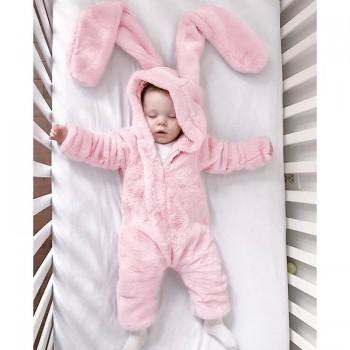 Big Rabbit Hooded Fleece-lined for Baby Girls