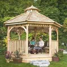 Resultado de imagen para kiosco de madera para jardin