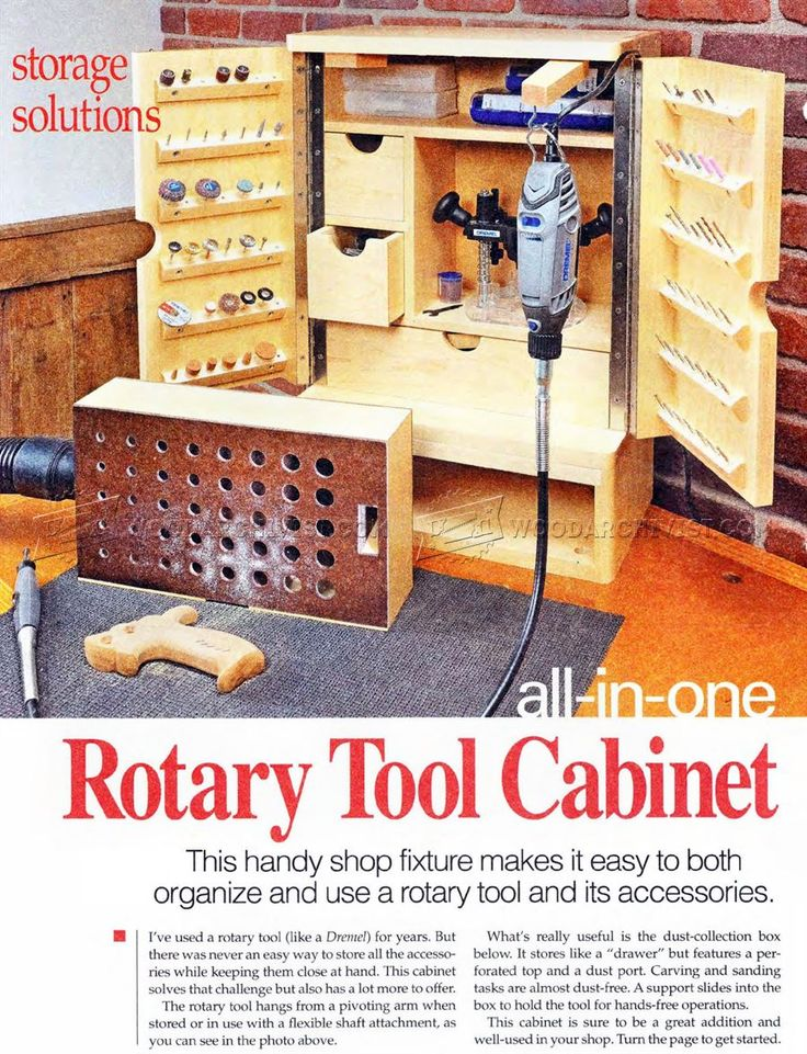 3060 Rotary Tool Cabinet Plans Workshop Solutions