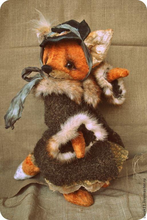Купить Лиса Алиса - рыжий, лиса, лиса игрушка, лиса тедди, лиса Алиса, лисица