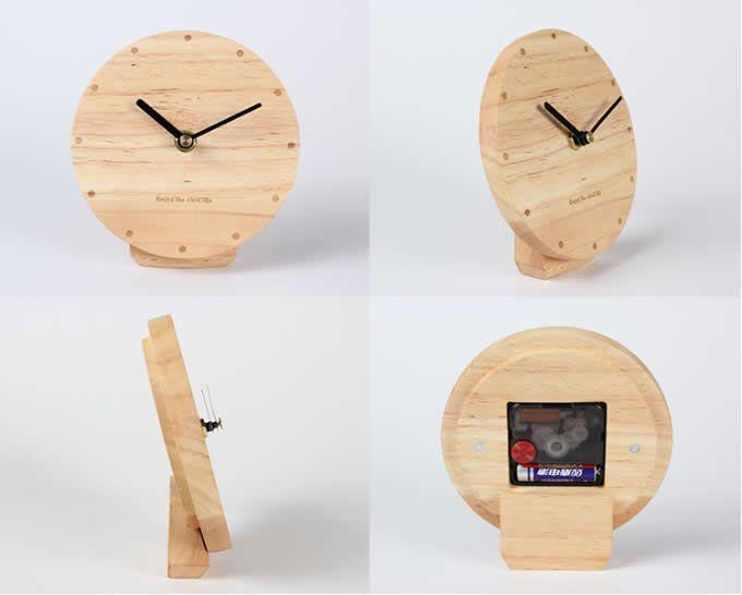 Modern Style Wooden Table Clock Ideias Para Relogio Ideias Para