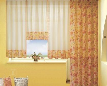 Купить комплект занавесок из вуали ИВЕТТА оранжевые лилии от производителя РеалТекс (Россия)