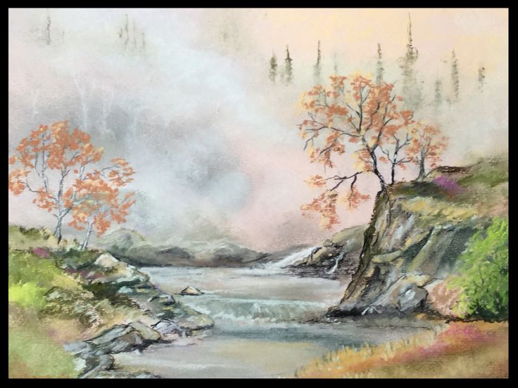 """Misty  Morning"". Pastel on A4 paper"