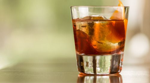 Sidestep from the popular negroni this weekend and try a fresh drink that blends bitter flavor with whiskey's bite.  - 1.5 oz. (45 ml.) Bulleit rye whiskey - 1 oz. (30 ml.) Campari or Aperol - 1 oz. (30 ml.) dry vermouth Garnish with the twist of an orange
