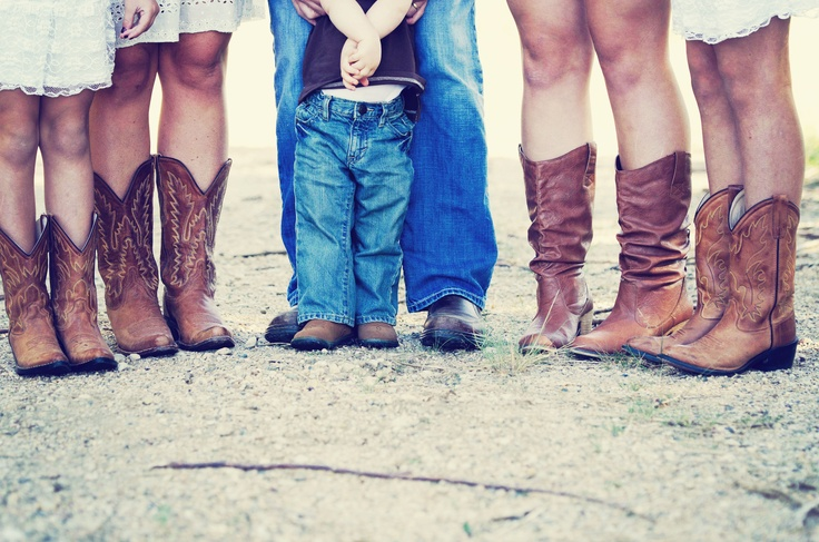 family picture we do love our boots!