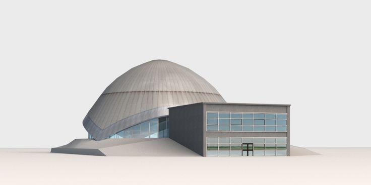 3D Model Planetarium Bochum | c4d 3ds max skp dae - 3D Squirrel