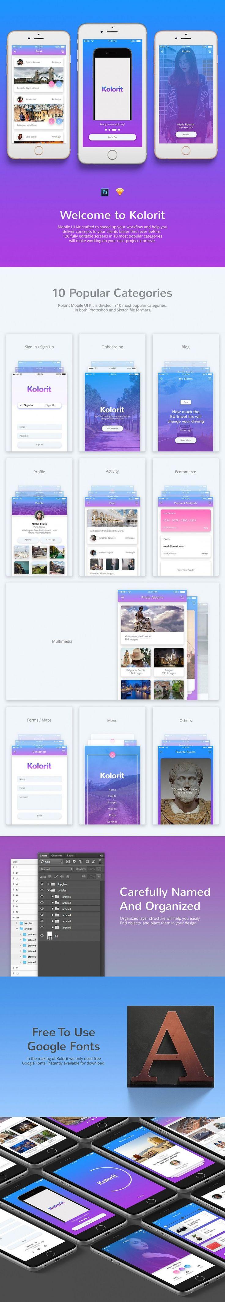 Kolorit Mobile UI Kit