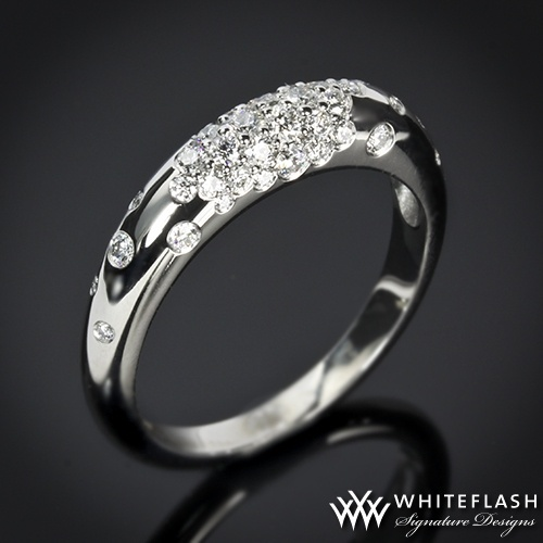 Champagne Diamond Wedding Ring