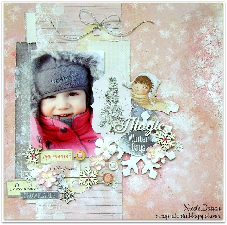 DT project for ScrapBerry's using a combination of their Winter Joy and Once Upon A Winter collections and lots more. See details at http://scrap-utopia.blogspot.ca/2017/02/magic-winter-days-scrapberrys-dt-reveal.html #scraputopia #scrapbooking #scrapberrys