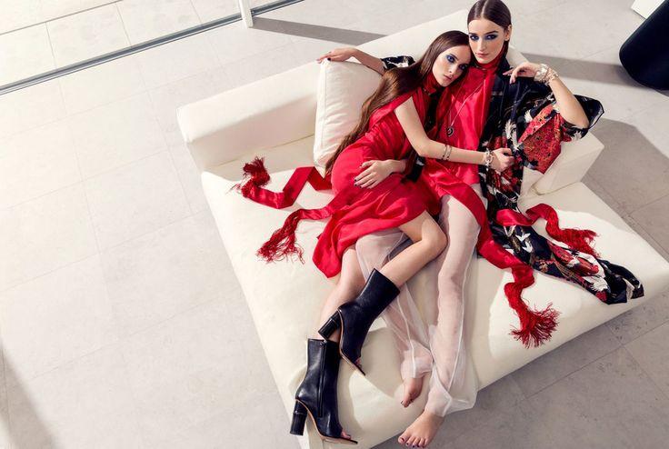 black + white + red look 01 // GOSEE ::: LUNDLUND: Elisabeth Toll for Elle Sweden