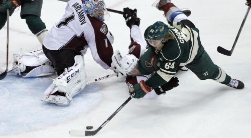 Mikael Granlund's diving goal in OT is the winner that kept Wild alive. #Hockey #Wild #Playoffs