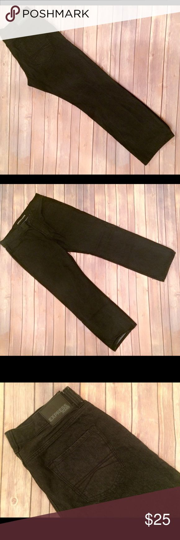 Donated to Red Cross/Express Men Jeans Worn only once & washed! Express Men Blake Jeans in black.  Loose fit style, front & back pockets. No defects. Express Jeans Bootcut