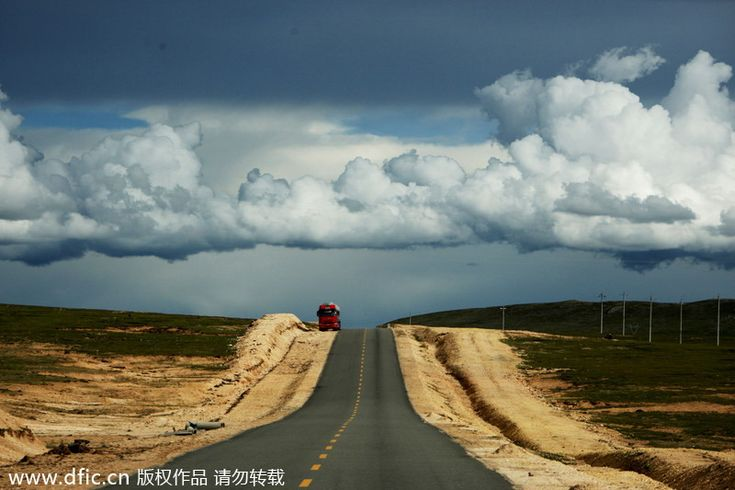 The Qinghai-Tibet Highway is the world's longest asphalt road and at the highest altitude.