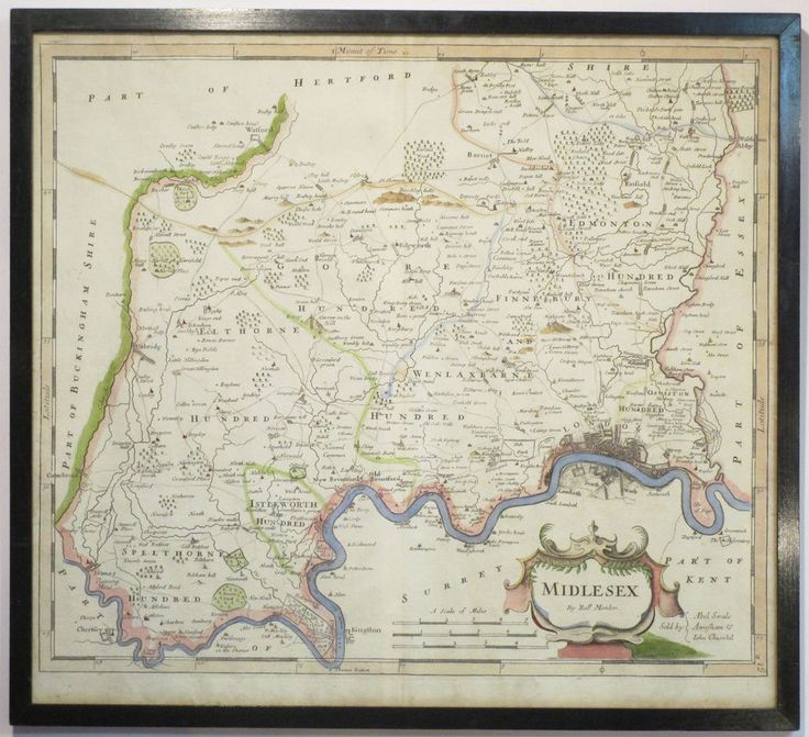 C1695 ROBERT MORDEN ORIGINAL ANTIQUE MAP MIDDLESEX