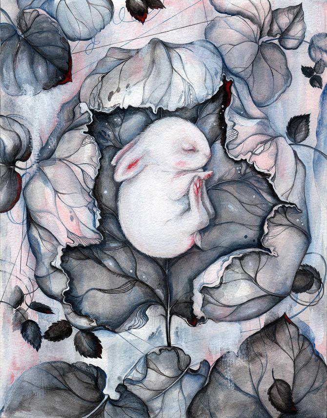 Feminine Illustrations by Marjolein Caljouw