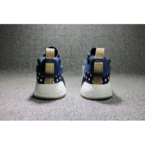 various colors bd668 f82f9 2017 Adidas NMD R2 Primeknit Collegiate Navy-Footwear Blanco Mujer Precio