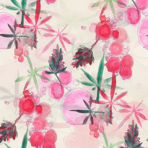 TITLE - Bubblegum Kush | Print of an original botanical watercolor illustration of cannabis strain, Bubblegum Kush.