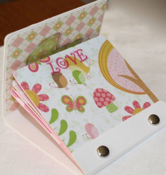 cover with pretty paper