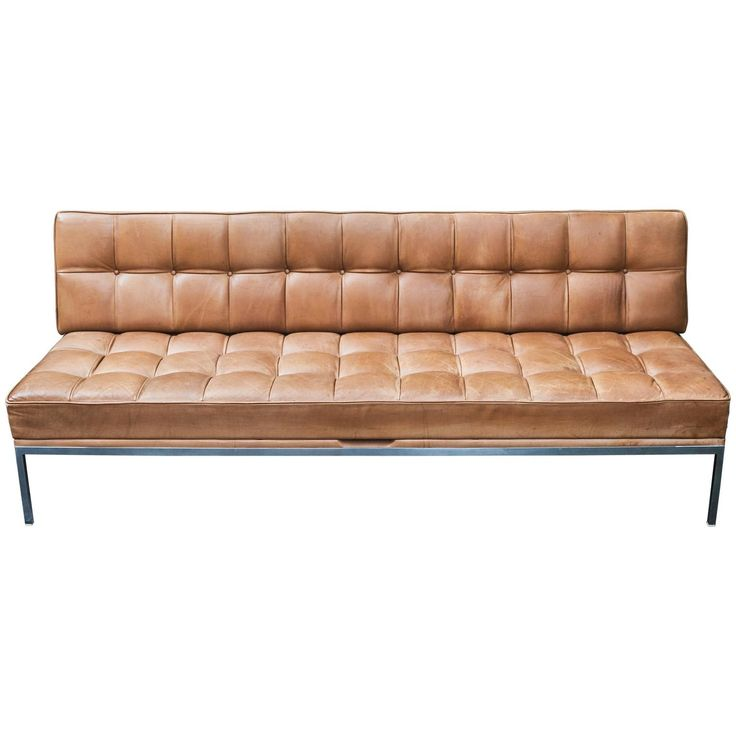 Johannes Spalt Constanze Sofa Daybed Natural Leather for Wittman Austria | See more antique and modern Daybeds at https://www.1stdibs.com/furniture/seating/day-beds