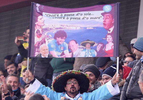 Napoli fans saat laga Sassuolo vs Napoli Kemarin