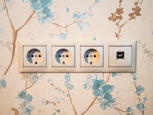 Электрические розетки при скрытой электропроводке