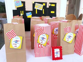 A Stylish Affair by Jessie A Superhero/ Superman themed birthday party/ Superman party favors