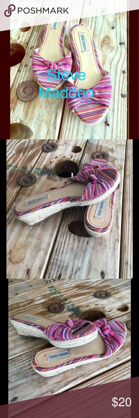 Selling this Steve Madden Wedge Slip-Ons-Good Condition SZ 5 on Poshmark! My username is: just_kota. #shopmycloset #poshmark #fashion #shopping #style #forsale #Steve Madden #Shoes