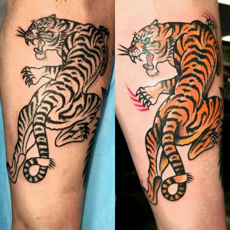Traditional tiger tattoo   tattoos   Traditional tiger ...