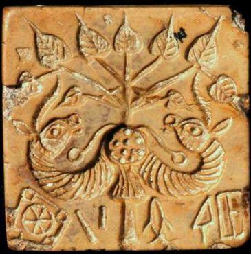 "Sceau de ""l'arbre de vie"" (Mohenjo-Daro; musée national du Pakistan, Karachi)"