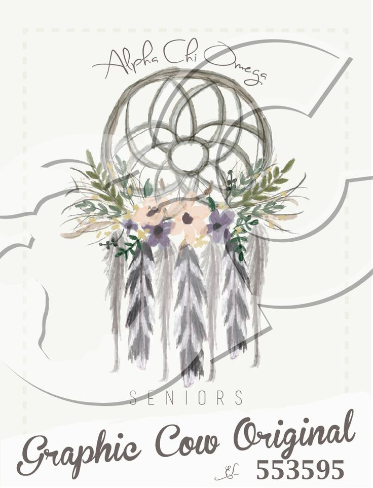 Alpha Chi Omega dreamcatcher flower feather senior #grafcow