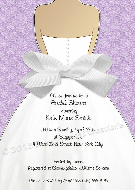 Bridal Shower Invitation Lace Amp Bow Design Multiple Colors Diy Print At Home Sweet