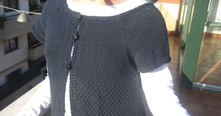 cardigan top-down  Questo è il primo cardigan che ho realizzato con il metodo top-down . Visto che non capisco l'inglese , e non ho tr...
