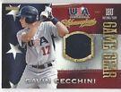 GAVIN CECCHINI 2013 USA BASEBALL CHAMPIONS GAME GEAR ROOKIE JERSEY CARD. NICE on eBay for $5.25