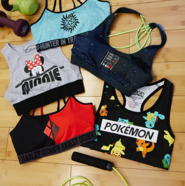 Your faves will keep you motivated // Minnie Mouse Pokemon Star Wars Supernatural Harley Quinn Sports Bra