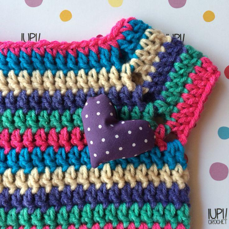Camiseta rayada crochet