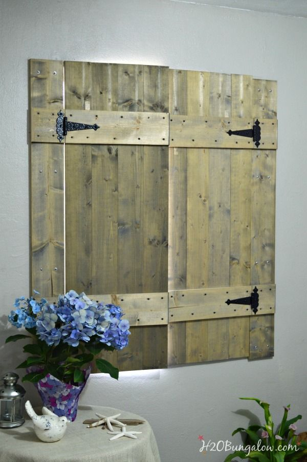 DIY Interior Wood Shutters