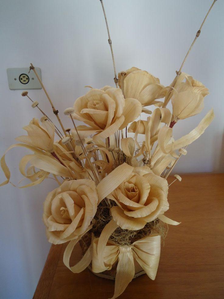 flores de palha de milho