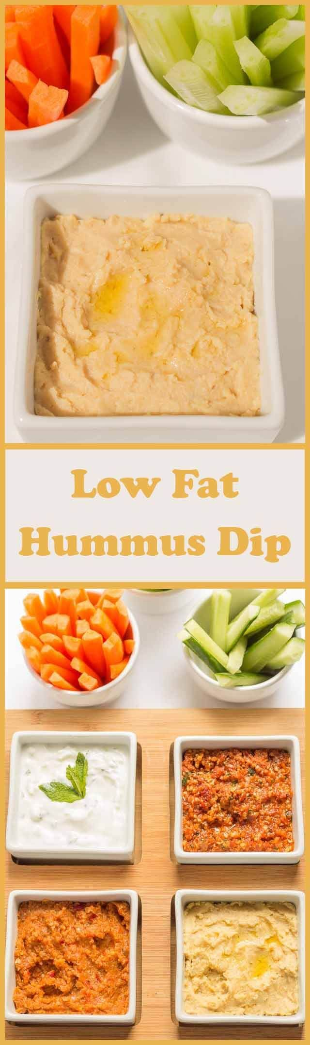 This low fat hummus dip has all the familiar Mediterranean flavours you would expect from the classic dip, except that it's lower calorie and lower fat than the original. Reduced oil and reduced salt make it a much healthier recipe overall. Perfect for sharing.