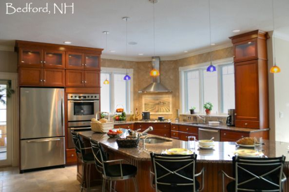 cabinets granite countertops cabinet kitchens glasses sink in island ...