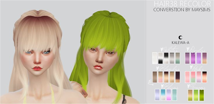 ❀ฺ  TS4 Hair38 Recolor | Sims 4 Updates -♦- Sims Finds & Sims Must Haves -♦- Free Sims Downloads