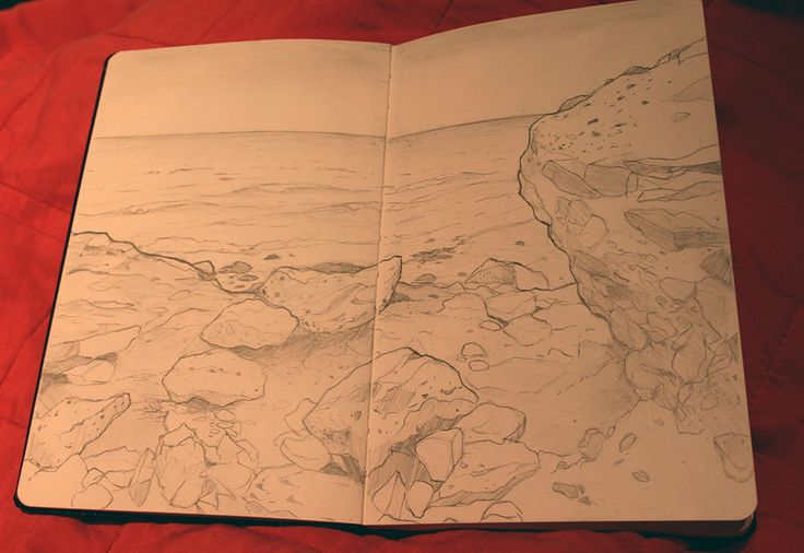 Pencil sketch from my holiday in Fuertaventura. Sitting in a hidden cove with a beer and my sketchbook :)