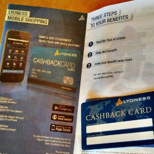 This Lyoness Cashback Card will save you $$ everytime you shop (Free Mobile App available). Get a Free Lyoness Card today! let me help you join and get cashback..
