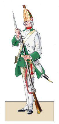 SYW- Austria: Grenadier of Saxony's Prinz Maximilian Infantry in 1756, by Franco Saudelli.