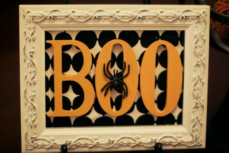 Halloween picture frames craft