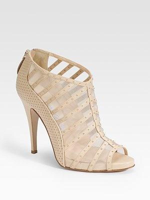 Bionda Castana - Gracie Studded Mesh Platform Ankle Boots