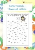 Letter Search-Reversed Letters