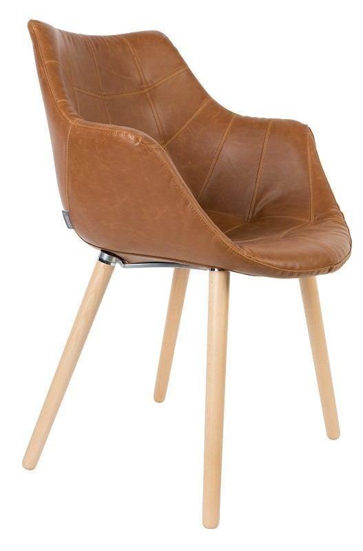 Zuiver+Twelve+Spisebordsstol+-+Brun+-+Lækker+spisebordsstol+i+brun+med+et+slidt+og+råt+look.+En+spisebordsstol,+der+giver+en+komfortabel+siddeoplevelse+og+passer+godt+ind+i+det+moderne+hjem.